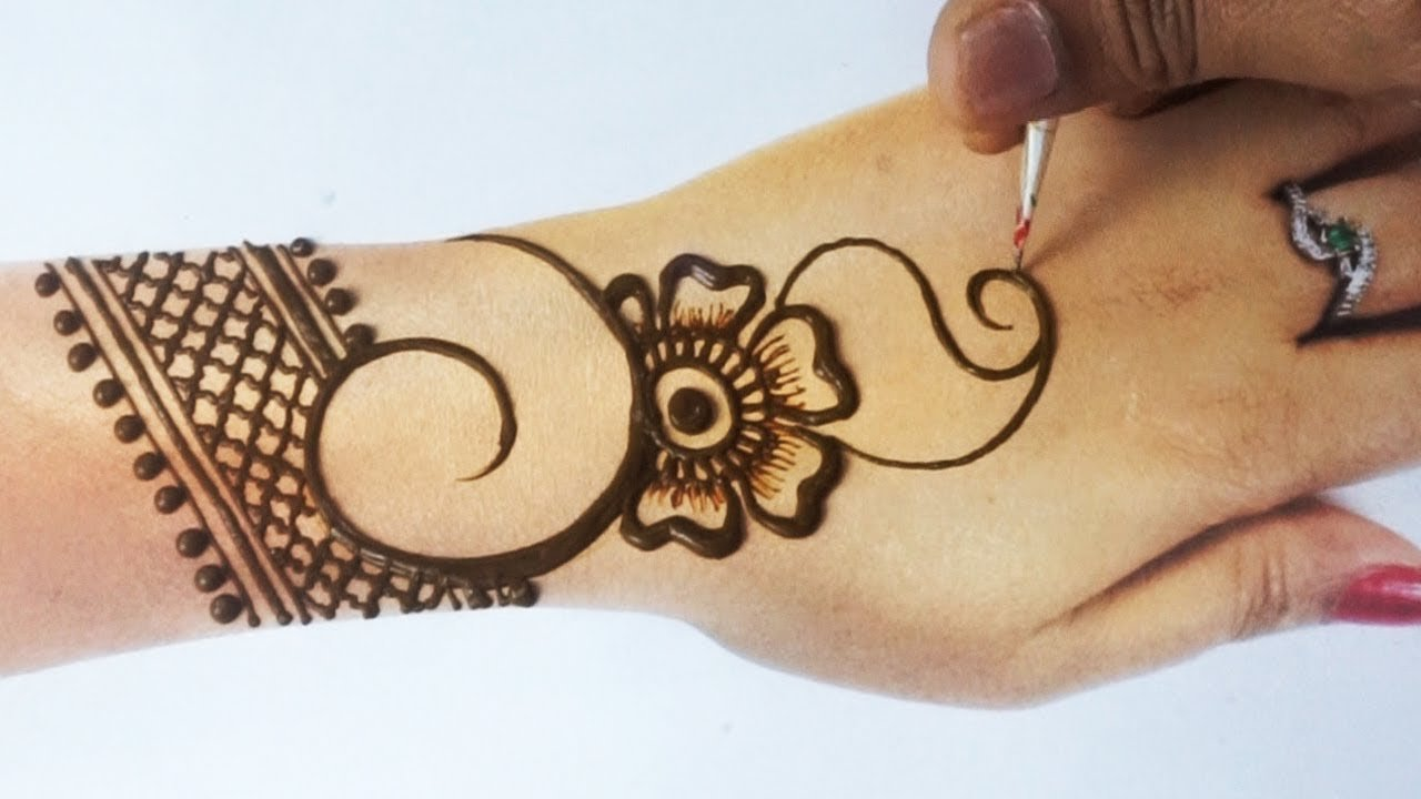 Beautiful Easy Flower Mehndi Design | Stylish Back Hand Mehndi Design | फूल वाली मेहँदी सीखे