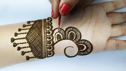 Easy Mehendi Design for New Year