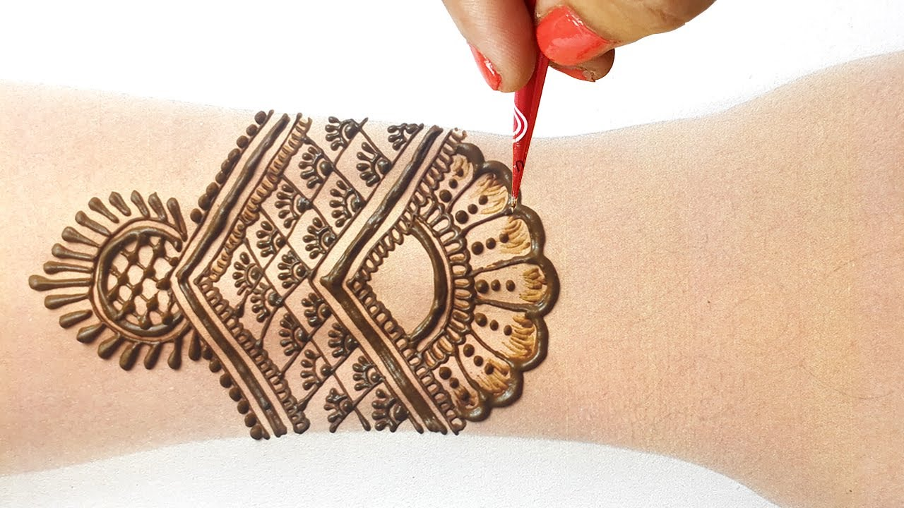 Wedding Special Simple Dulhan Mehndi Design | Arabic Henna Design | Full Backhand Bridal Mehndi